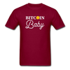 Men's Bitcoin Baby - burgundy