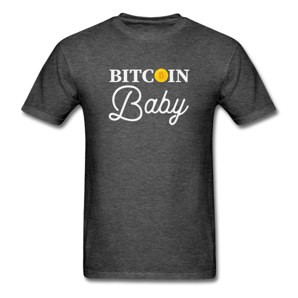 Men's Bitcoin Baby - heather black