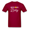 Men's Bitcoin Baby - dark red