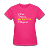 Women's Eat Sleep Crypto Repeat - fuchsia