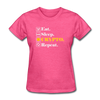 Women's Eat Sleep Crypto Repeat - heather pink