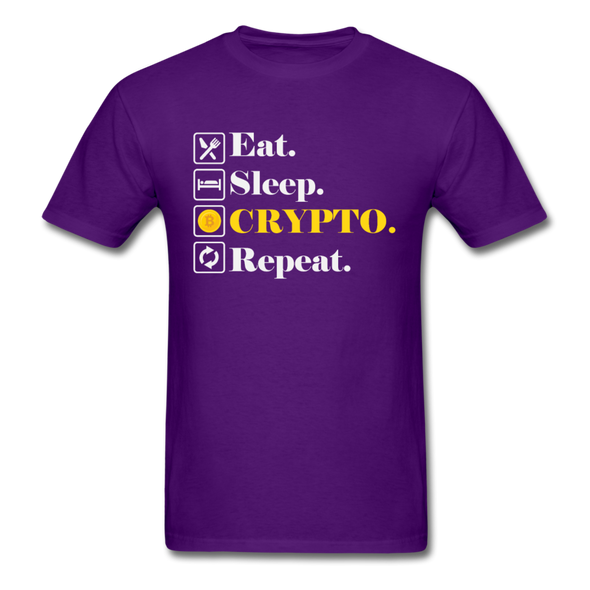 Men's Eat Sleep Crypto Repeat - purple