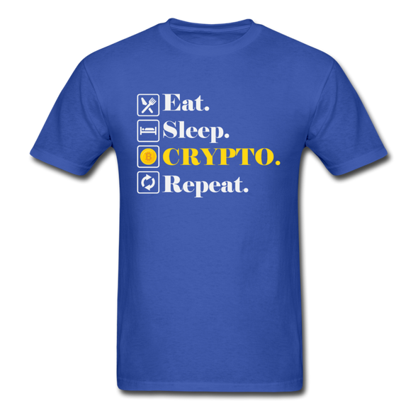 Men's Eat Sleep Crypto Repeat - royal blue