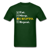 Men's Eat Sleep Crypto Repeat - forest green