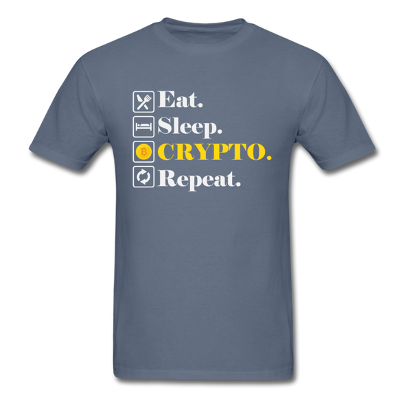 Men's Eat Sleep Crypto Repeat - denim