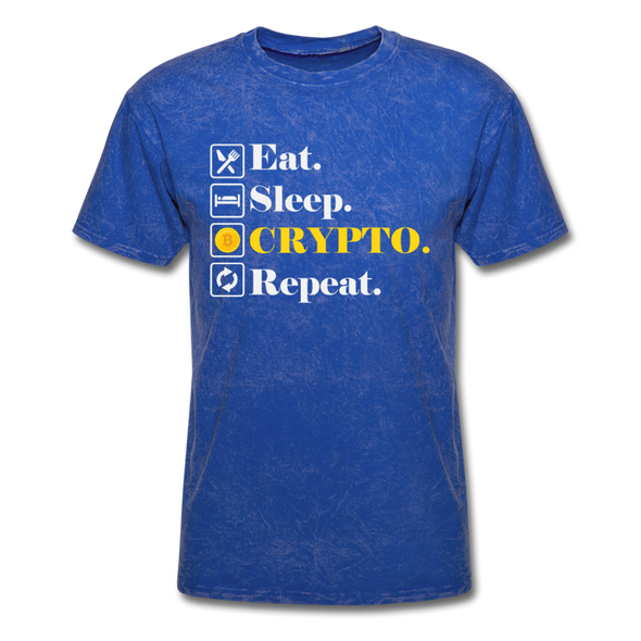Men's Eat Sleep Crypto Repeat - mineral royal