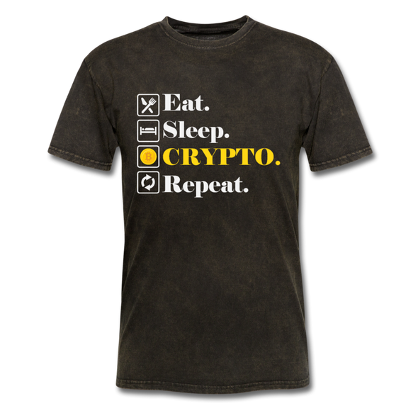 Men's Eat Sleep Crypto Repeat - mineral black