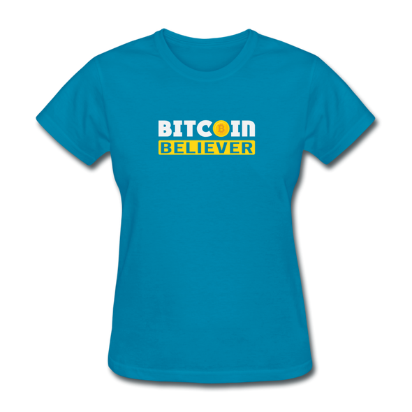 Women's Bitcoin Believer - turquoise