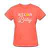 Women's Bitcoin Baby - heather coral