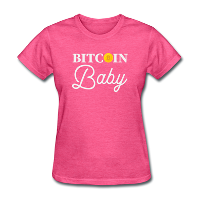 Women's Bitcoin Baby - heather pink