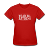 Women's We Are All Satoshi - red