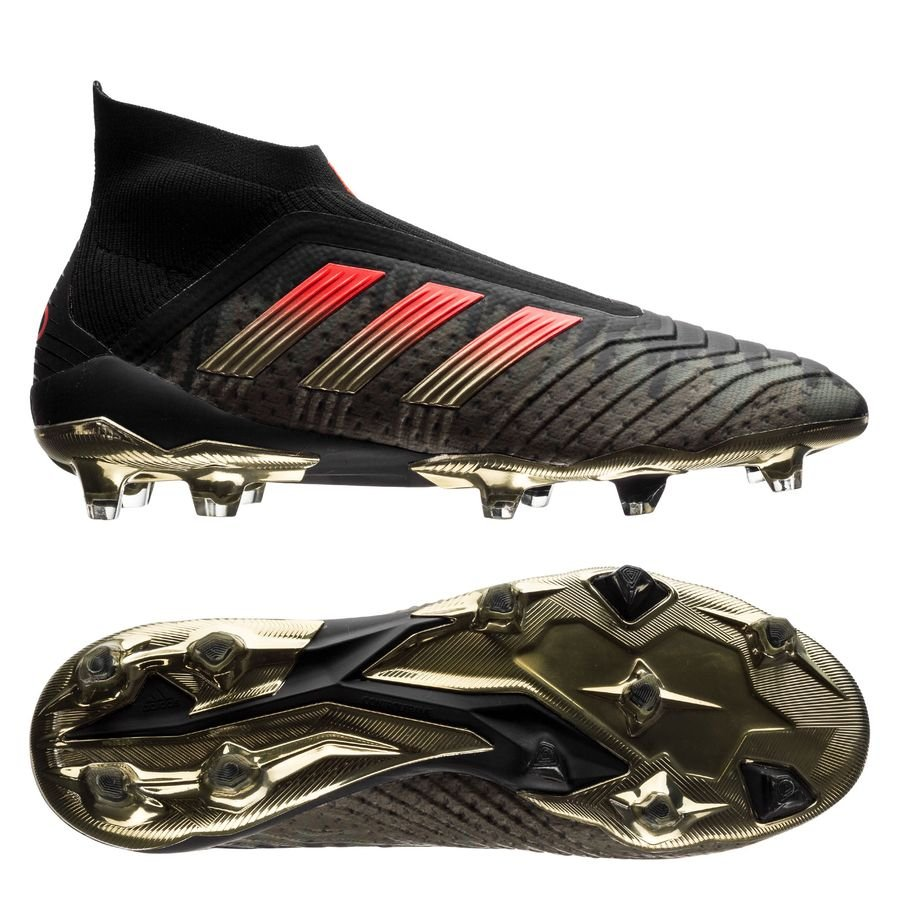 details for picked up big sale ADIDAS PREDATOR 18+ FG/AG POGBA - SCHWARZ/ROT LIMITED EDITION