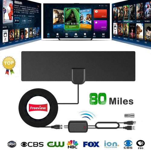 HDTV Free Cable Antenna with Signal Booster (BUY1 TAKE1)