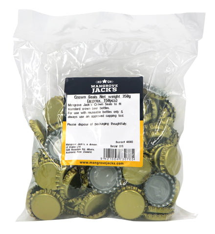 Crown Seals - Gold (150 pack)