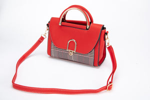 Torch Red Leather Shoulder Bag