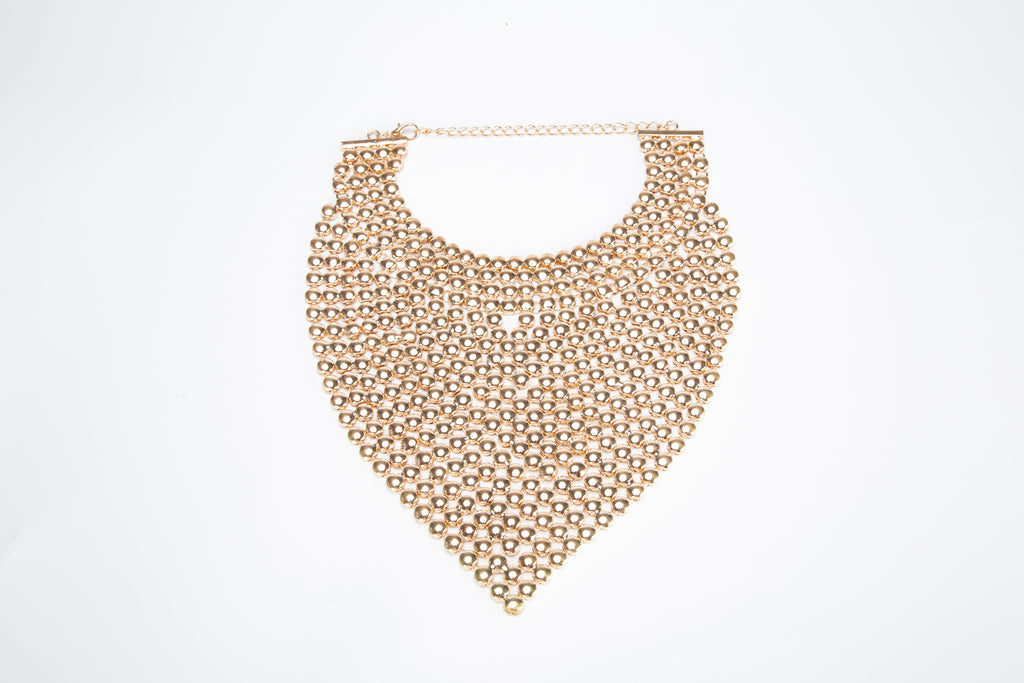 Lively Sparkle Necklace - Gold Colored