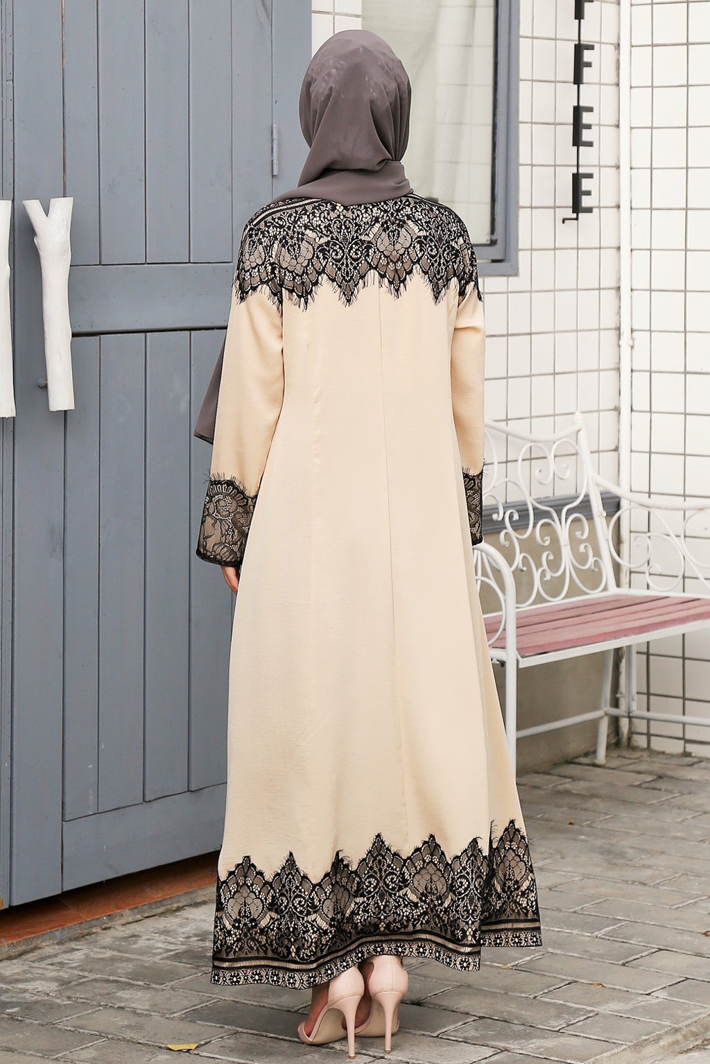 Soft Silk Dress - Beige