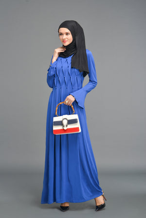 Pearl Embellished Dress - Blue