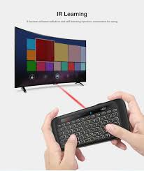 Zeepin H20 2.4G Wireless Mini Keyboard Touchpad Backlight IR Learning With 280mAh Li Battery Long StandBy For PC Xbox PS4 TV Box