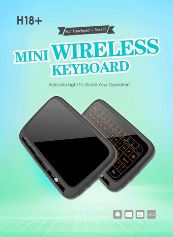 H18+2.4GHz mini wireless QWERTY keyboard Full Touchpad Keyboard Large Touch Pad Remote Control for Android TV Box PC Xbox3 PS4