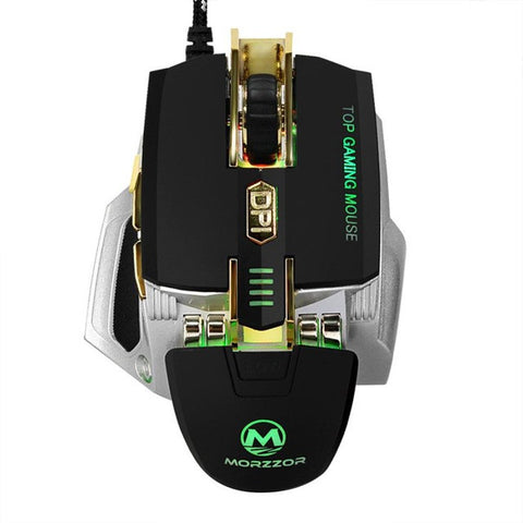 Gaming Mouse USB 4000 DPI 7D Buttons LED Mechanical Wired Gaming Mouse For PC Laptop For CS High-End Player 2 Color Gift #201