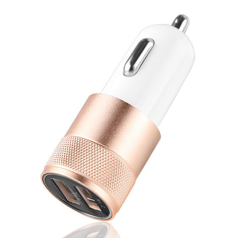 Powstro Aluminium 3.1A Car Charger Dual USB 2.1A 1A Vehicle Charger Adapter Universal For iPhone Tablet Mobile Phone Charger