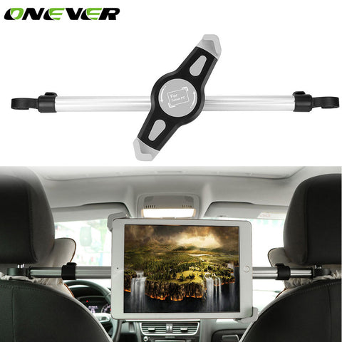 Onever 7-10.5'' Car Tablet Stand Bracket For Tablet PC Universal Rotatable Aluminum Car Seat Tablet Holder Mount For iPad Mini