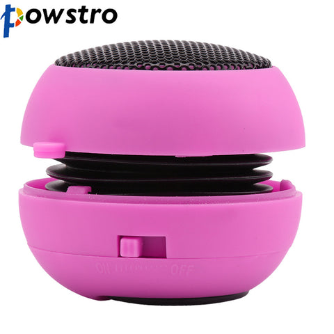 Powstro Pocket Mini Hamburger Wireless USB charge Speaker for iPhone iPad iPod Laptop PC Three Color Optional