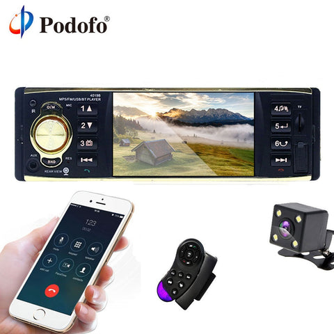 Car Stereo 4'' TFT Screen MP3 Bluetooth With Rearview Camera and Remote Control
