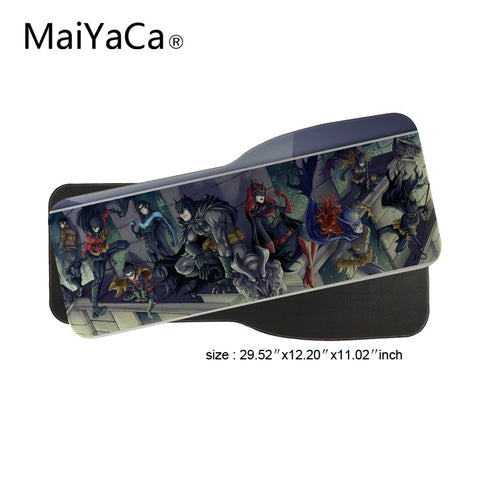 MaiYaCa Batman Cast Comic Game Speed Keyboard Mouse Pad Rubber Mat Computer Gaming Mousepad Gamer for Large Size Table Mouse Mat
