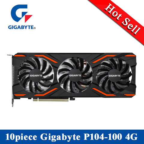 Lot of 10 | GIGABYTE | Desktop 4G Graphics Video Card | BitCoin Mining Capable