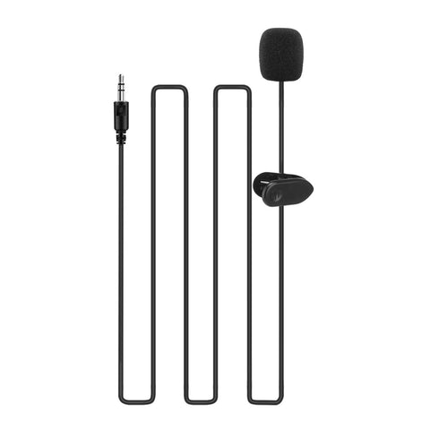 Portable Microphone 3.5mm Jack Clip-on Lavalier mini Wired Condenser Microphones for Smartphones Laptop Earphone