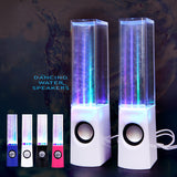 Colorful LED Dancing Water Fountain Light Show Sound Speaker for Laptops Smartphone iPhone iPad