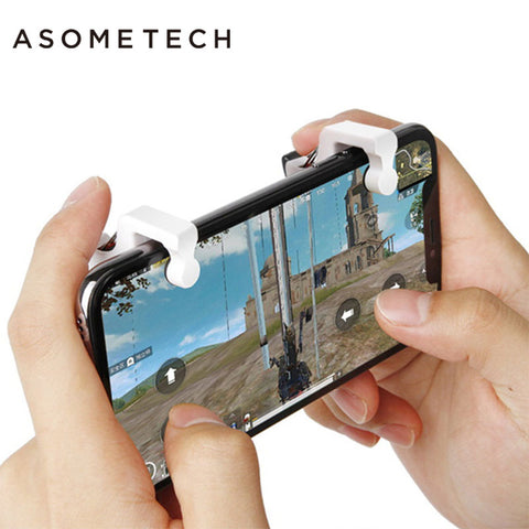 Pubg Mobile Phone Game Fire Button Aim Key Assistor Trigger Physical Joystick L1 R1 Trigger 1 Pair for Android iOS Shooting Game