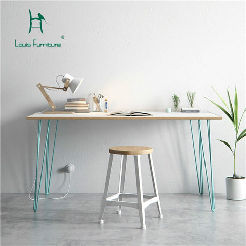 Louis Fashion Office Desks Modern Simple Solid Wood