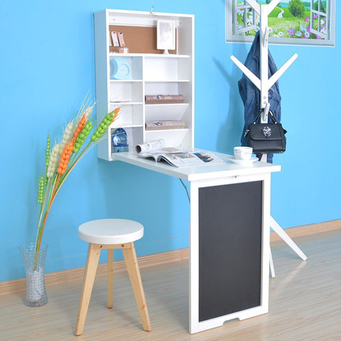 Multi-function Creative Desk Hanging Wall Folding Table Desk Wall Computer Small Household Writing Table Office Study Work Relax