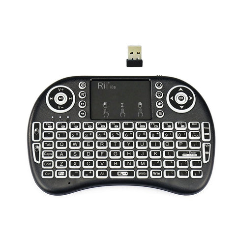 Rii i8s 2.4Ghz Mini Wireless Keyboard LED Backlit Touchpad with USB Receiver