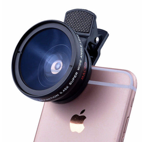 Smartphone Camera Lens Clip Kit - Zoom - 12.5X Macro Lens - 37mm thread
