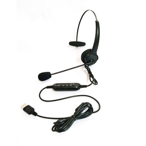 USB Headset Microphone Adjustable Noise Cancelling Earphone for PC Laptop