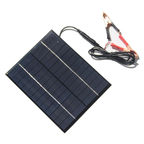 5.2W 12V Solar Panel Mobile Power Bank DIY Solar Charger + Car Crocodile Clips