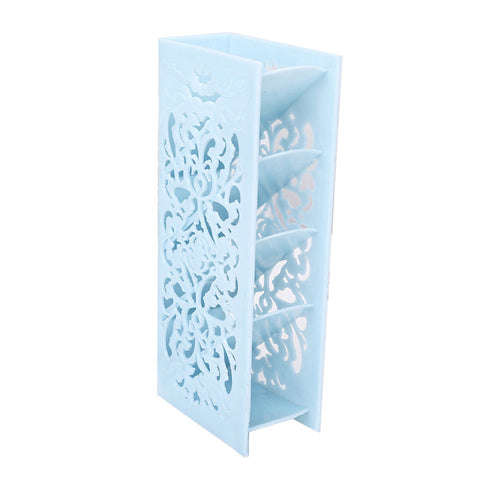 Hollow Table Organizer Carved Desk Storage Shelf Container for Home Office School Supplies