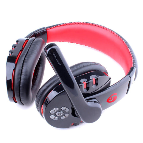 Gaming Headset Gaming Earphone Black+Red 2.4GHz Wireless Mic Game Gaming Headphone Headsets Video Game Accessories