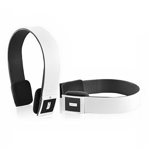 BH-02 Head-band Type Wireless Bluetooth Stereo Headphone Headset with MIC for iPhone /iPad /Cellphone /PC (White)