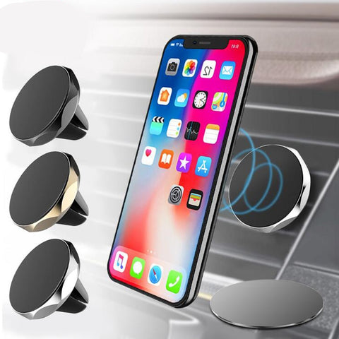 Universal  360 Degree Magnetic Phone Holder For Phone in Car Magnet Air Vent mount Stand Holder Car Mobile Smartphone Holder GPS