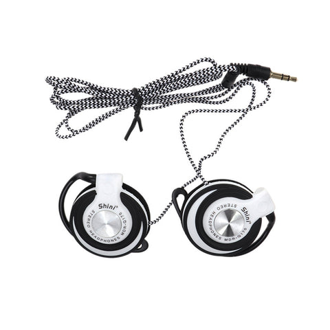 Wired Headset Clip On Ear Headphones EarHook Earphone Stereo Headphones For Mp3 Player Computer
