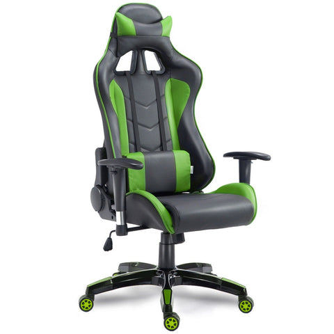Costway High Back Executive Racing Reclining Gaming Chair Swivel PU Leather Office Chair