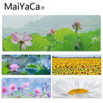 MaiYaCa Summer lotus Large Mouse pad PC Computer mat Size for 30x90x0.2cm Gaming Mousepads