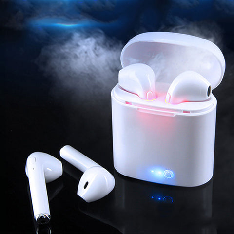 Wireless Headset Bluetooth Earpieces i7S Tws Earbuds Twins Earphone With Charging box Earphones For iPhone For Samsung  Smart