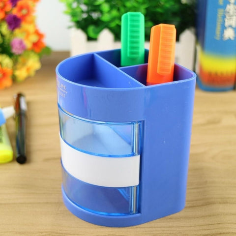 Color Pen Holder Storage Desk Holder Pencil Box Stationery Material School Office Desk Organizer