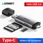 Ugreen Card Reader USB 3.0 SD/Micro SD TF OTG Smart Memory Card Adapter for Laptop USB 3.0 Type C Cardreader SD Card Reader